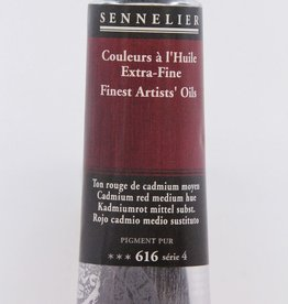 France Sennelier, Fine Artists' Oil Paint, Cadmium Red Medium Hue, 616, 40ml Tube, Series 4