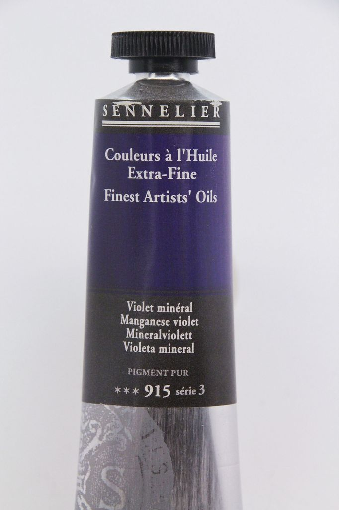 France Sennelier, Fine Artists' Oil Paint, Maganese Violet, 915, 40ml Tube, Series 3