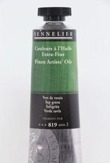 France Sennelier, Fine Artists' Oil Paint, Sap Green, 819, 40ml Tube, Series 2