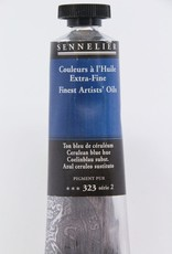France Sennelier, Fine Artists' Oil Paint, Cerulean Blue Hue, 323, 40ml Tube, Series 2