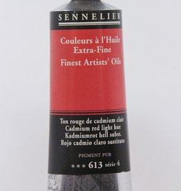 France Sennelier, Fine Artists' Oil Paint, Cadmium Red Light Hue, 613, 40ml Tube, Series 4