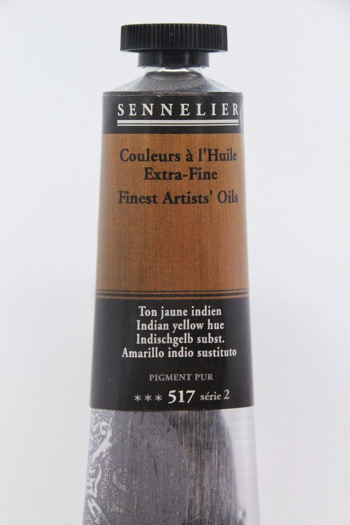 France Sennelier, Fine Artists' Oil Paint, Indian Yellow Hue, 517, 40ml Tube, Series 2