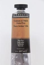 France Sennelier, Fine Artists' Oil Paint, Gold Ochre, 257, 40ml Tube, Series 1