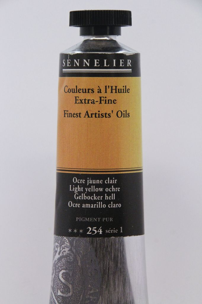 France Sennelier, Fine Artists' Oil Paint, Light Yellow Ochre, 254, 40ml Tube, Series 1