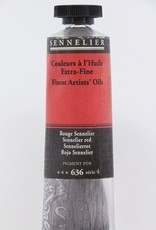 France Sennelier, Fine Artists' Oil Paint, Sennelier Red, 636, 40ml Tube, Series 4