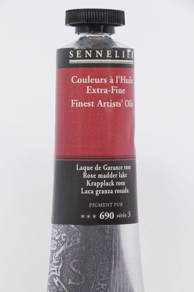 France Sennelier, Fine Artists' Oil Paint, Rose Madder Lake, 690, 40ml Tube, Series 3