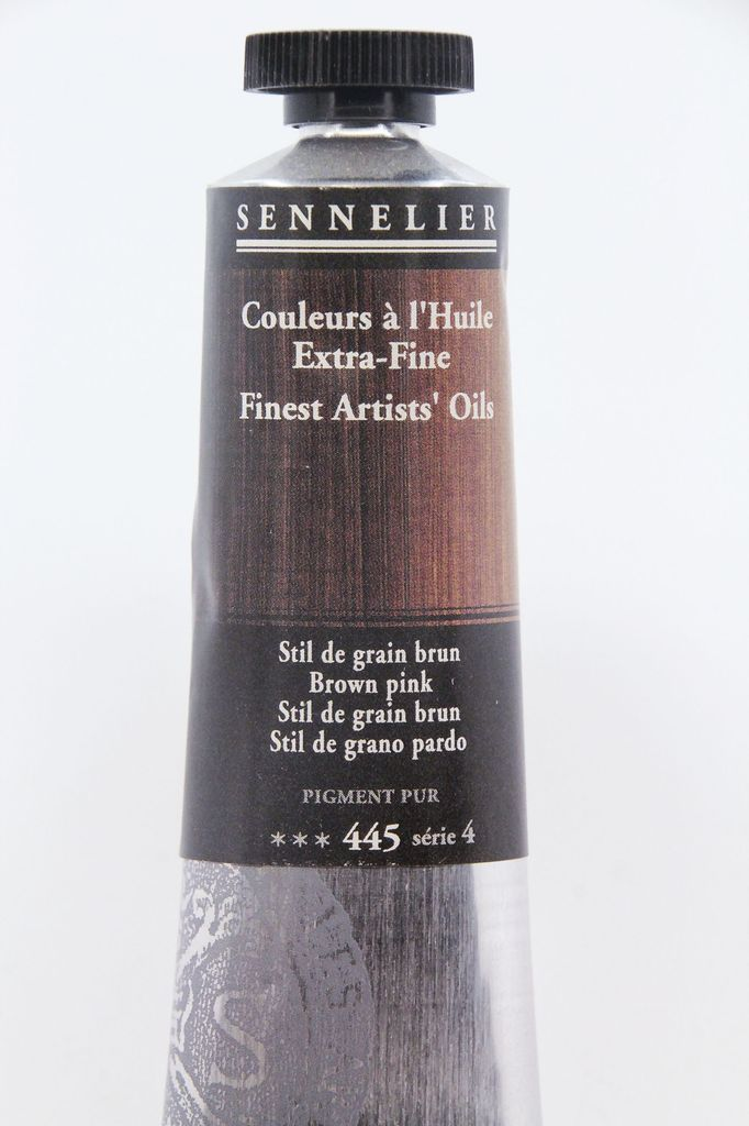 France Sennelier, Fine Artists' Oil Paint, Brown Pink, 445, 40ml Tube, Series 4