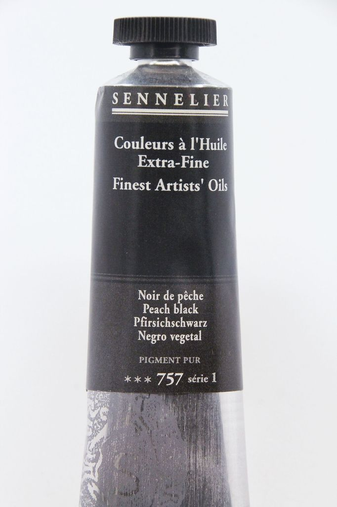 France Sennelier, Fine Artists' Oil Paint, Peach Black, 757, 40ml Tube, Series 1