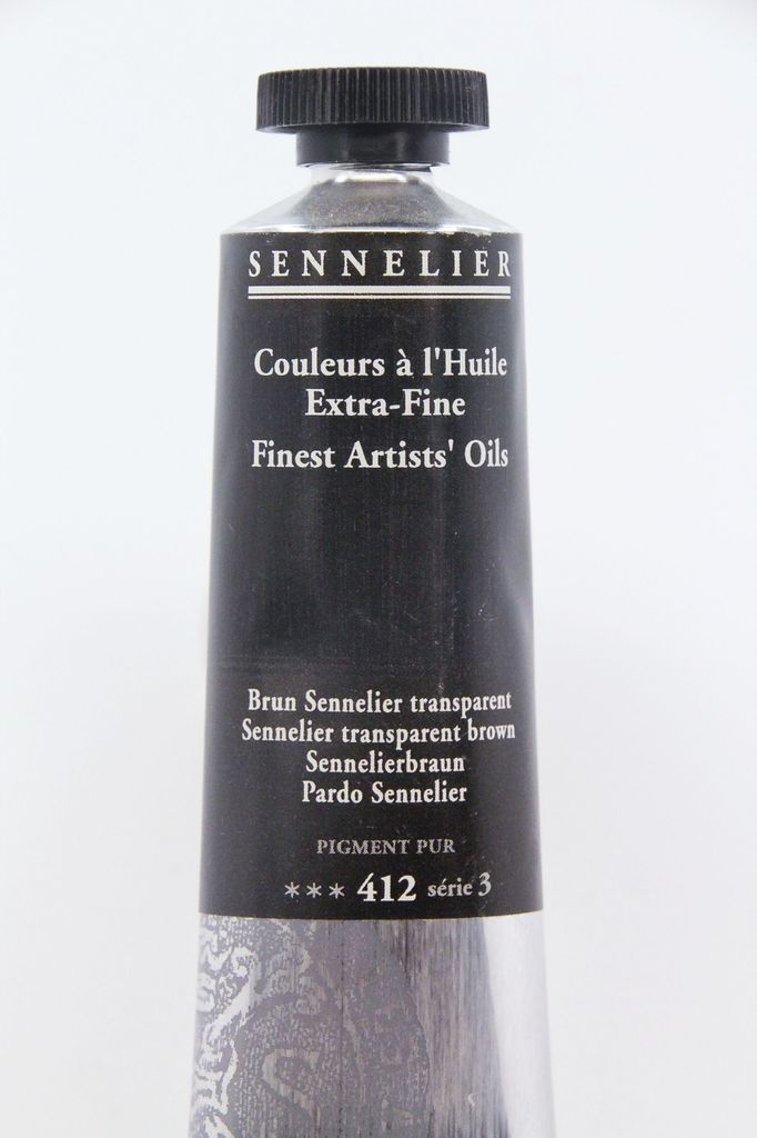 France Sennelier, Fine Artists' Oil Paint, Sennelier Tranparent Brown, 412, 40ml Tube, Series 3