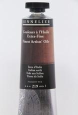 France Sennelier, Fine Artists' Oil Paint, Italian Earth, 219, 40ml Tube, Series 1