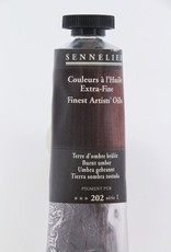 France Sennelier, Fine Artists' Oil Paint, Burnt Umber, 202, 40ml Tube, Series 1