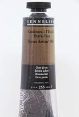 France Sennelier, Fine Artists' Oil Paint, Brown Ochre, 255, 40ml Tube, Series 1