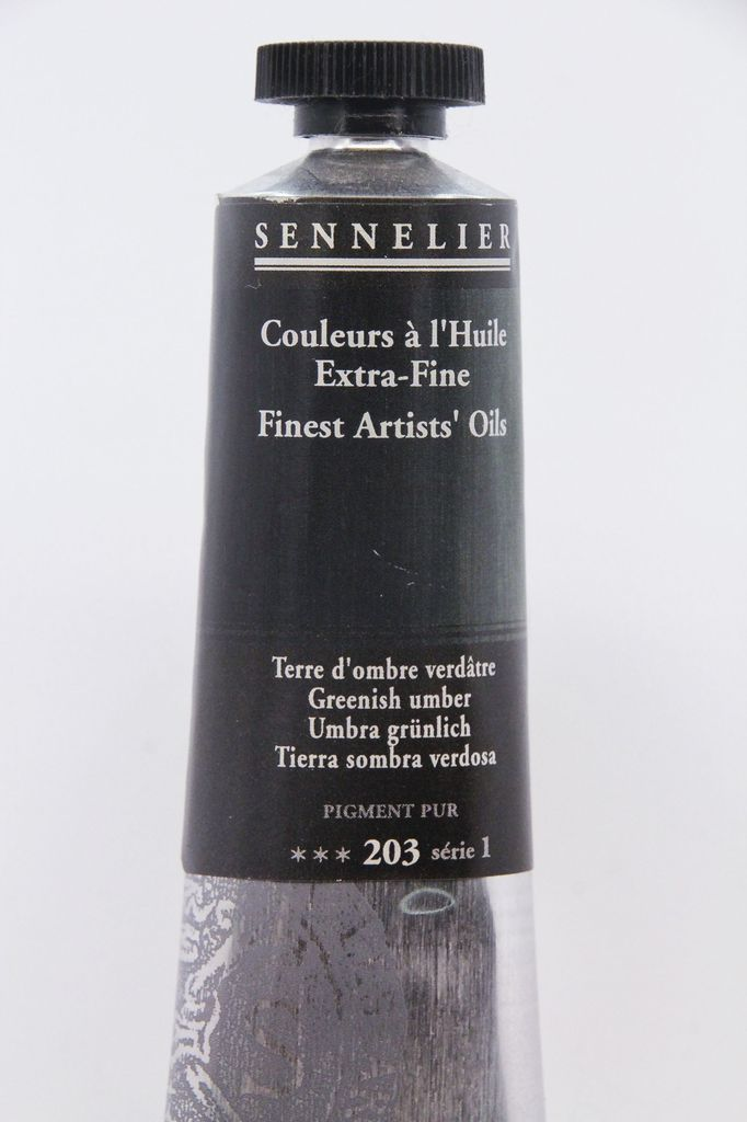 France Sennelier, Fine Artists' Oil Paint, Greenish Umber, 203, 40ml Tube, Series 1