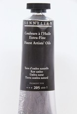 France Sennelier, Fine Artists' Oil Paint, Raw Umber, 205, 40ml Tube, Series 1