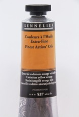 France Sennelier, Fine Artists' Oil Paint, Cadmium Yellow Orange, 537, 40ml Tube, Series 6