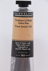 France Sennelier, Fine Artists' Oil Paint, Naples Yellow Warm, 563, 40ml Tube, Series 2