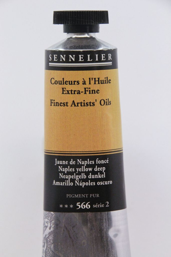 France Sennelier, Fine Artists' Oil Paint, Naples Yellow Deep, 566, 40ml Tube, Series 2