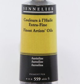 France Sennelier, Fine Artists' Oil Paint, Aureoline, 559, 40ml Tube, Series 5