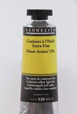 France Sennelier, Fine Artists' Oil Paint, Cadmium Yellow Light Hue, 539, 40ml Tube, Series 4