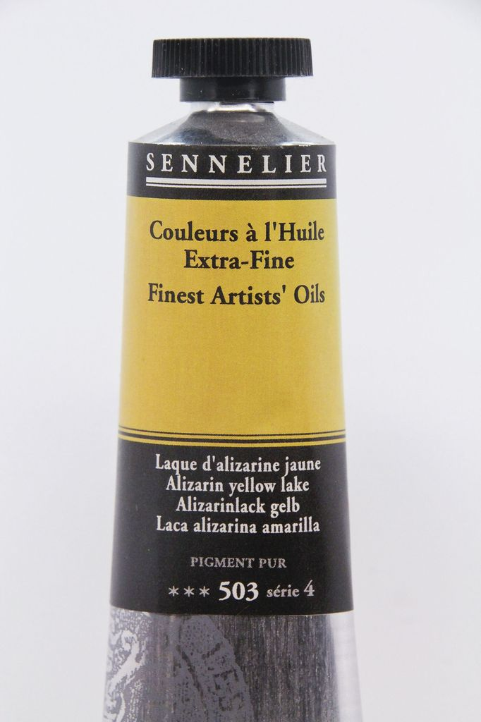 France Sennelier, Fine Artists' Oil Paint, Alizarin Yellow Lake, 503, 40ml Tube, Series 4