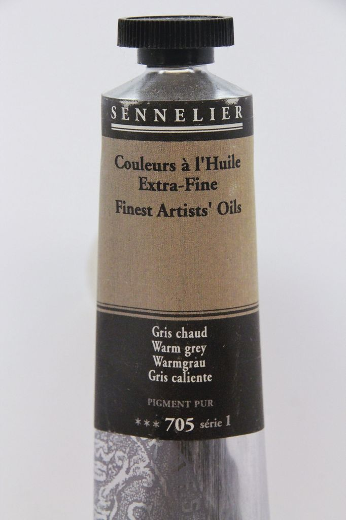 France Sennelier, Fine Artists' Oil Paint, Warm Grey, 705, 40ml Tube, Series 1