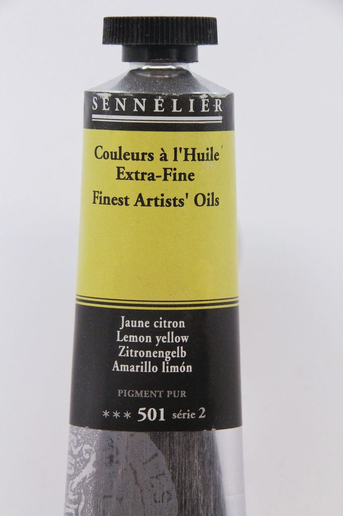 France Sennelier, Fine Artists' Oil Paint, Lemon Yellow, 501, 40ml Tube, Series 2
