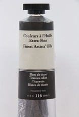 France Sennelier, Fine Artists' Oil Paint, Titanium White, 116, 40ml Tube, Series 1