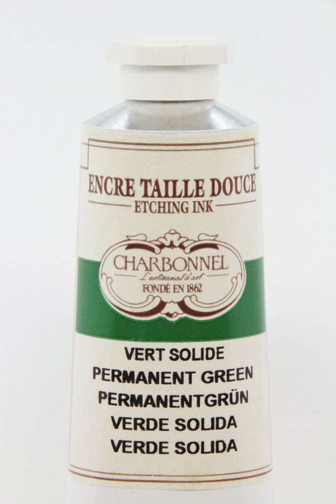 France Charbonnel, Etching Ink, Permanent Green, Series 6, 60ml, Tube