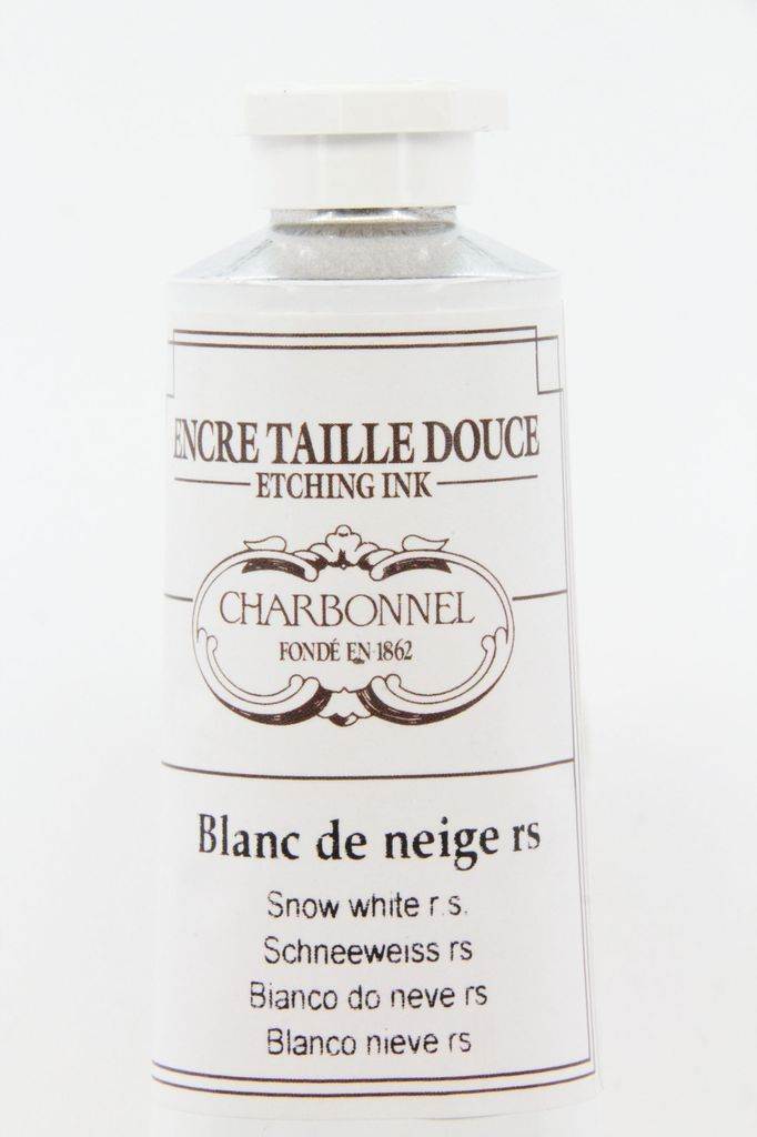 France Charbonnel, Etching Ink, Snow White RS, Series 2, 60ml, Tube