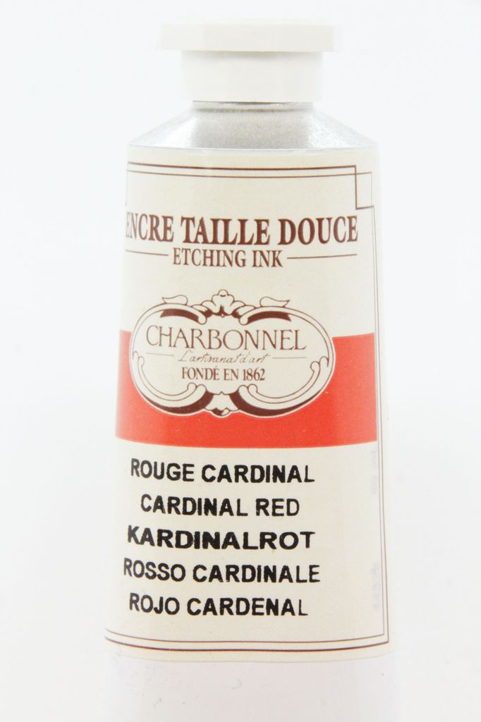 France Charbonnel, Etching Ink, Cardinal Red, Series 4, 60ml, Tube
