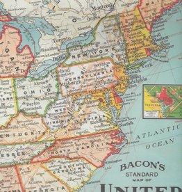 "Italy Cavallini Print, United States Map, 20"" x 28"""