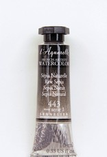 France Sennelier, Aquarelle Watercolor Paint, Raw Sepia, 443,10ml Tube, Series 1
