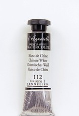 France Sennelier, Aquarelle Watercolor Paint, Chinese White, 112,10ml Tube, Series 1
