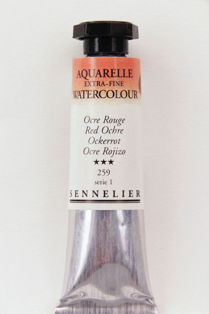 France Sennelier, Aquarelle Watercolor Paint, Red Ochre, 259,10ml Tube, Series 2 (Discontinued Color)
