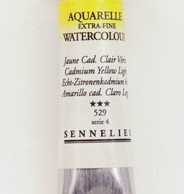 France Sennelier, Aquarelle Watercolor Paint, Cadmium Yellow Light, 529,10ml Tube, Series 4
