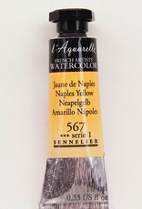 France Sennelier, Aquarelle Watercolor Paint, Naples Yellow, 567,10ml Tube, Series 1