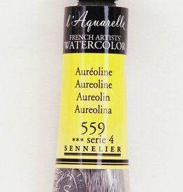 France Sennelier, Aquarelle Watercolor Paint, Aureoline, 559,10ml Tube, Series 4