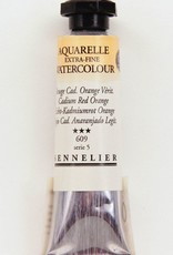 France Sennelier, Aquarelle Watercolor Paint, Cadmium Red Orange, 609,10ml Tube, Series 5 (Color Discontinued)