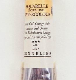France Sennelier, Aquarelle Watercolor Paint, Cadmium Red Orange, 609,10ml Tube, Series 5 (Color Discontinued)