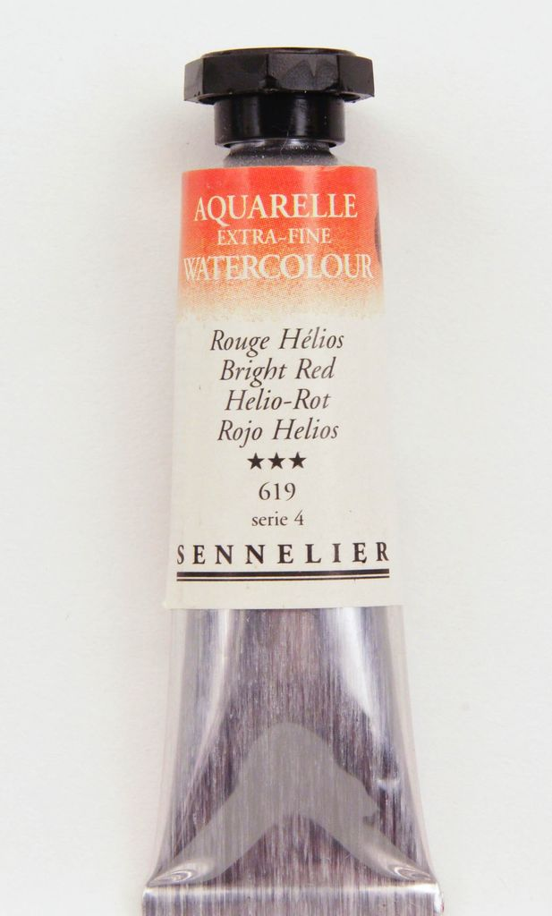 France Sennelier, Aquarelle Watercolor Paint, Bright Red, 619,10ml Tube, Series 4