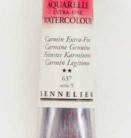 France Sennelier, Aquarelle Watercolor Paint, Carmine Genuine, 637,10ml Tube, Series 5 (Color Discontinued)