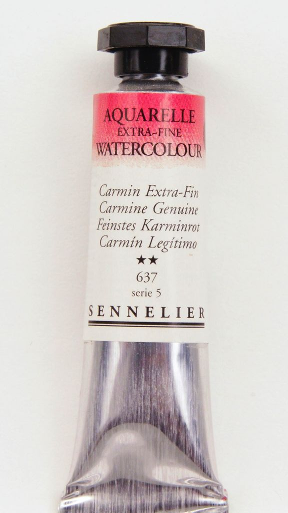 France Sennelier, Aquarelle Watercolor Paint, Carmine Genuine, 637,10ml Tube, Series 5 (Color Discontinued)