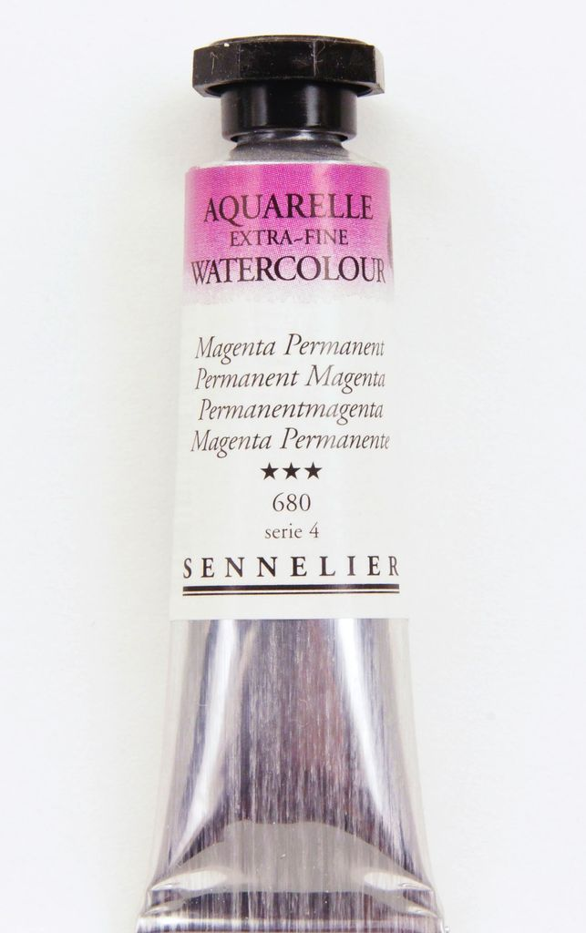France Sennelier, Aquarelle Watercolor Paint, Permanent Magenta, 680,10ml Tube, Series 4