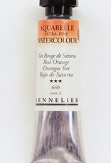 France Sennelier, Aquarelle Watercolor Paint, Red Orange, 640,10ml Tube, Series 4