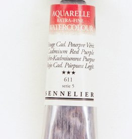 France Sennelier, Aquarelle Watercolor Paint, Cadmium Red Purple, 611,10ml Tube, Series 5