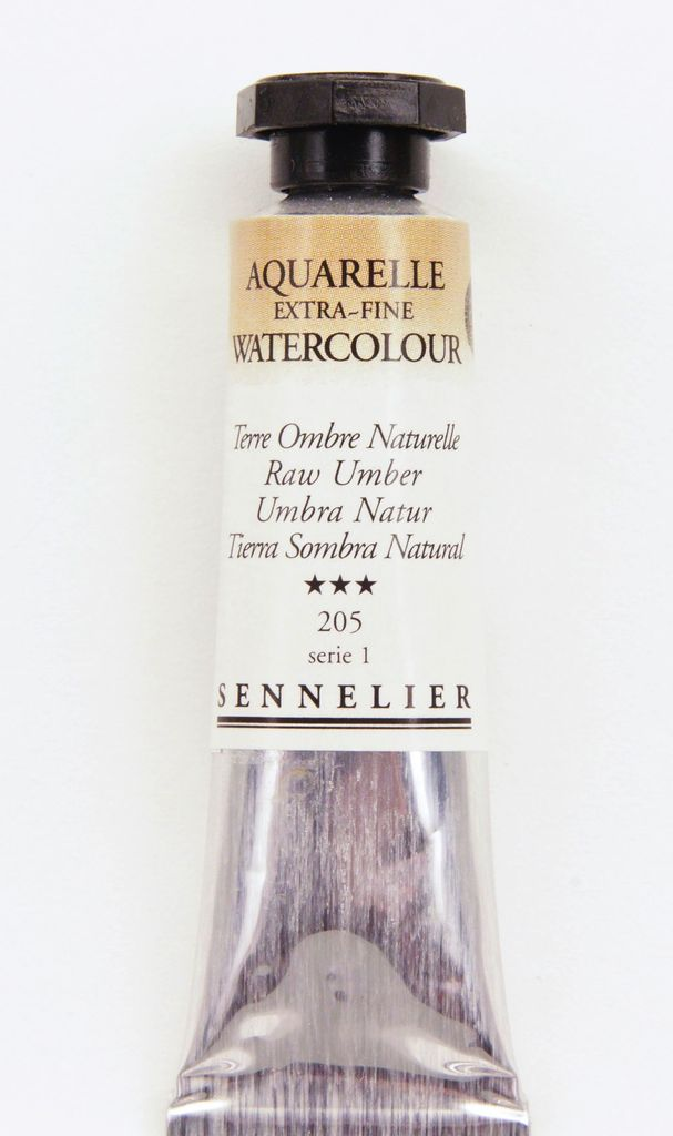France Sennelier, Aquarelle Watercolor Paint, Raw Umber, 205,10ml Tube, Series 1