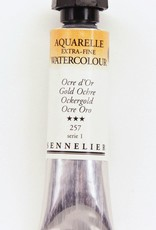 France Sennelier, Aquarelle Watercolor Paint, Gold Ochre, 257,10ml Tube, Series 1