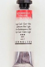 France Sennelier, Aquarelle Watercolor Paint, Cadmium Red Light, 605,10ml Tube, Series 5