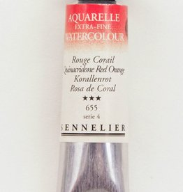 France Sennelier, Aquarelle Watercolor Paint, Cadmium Red Purple, 655,10ml Tube, Series 4 (Color Discontinued)
