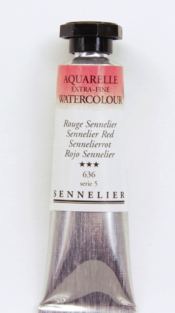 France Sennelier, Aquarelle Watercolor Paint, Sennelier Red, 636,10ml Tube, Series 5